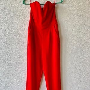 Express red jumpsuit